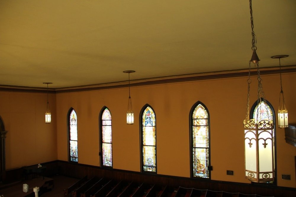 49 View southwest from balcony showing overview of nave windows.jpg