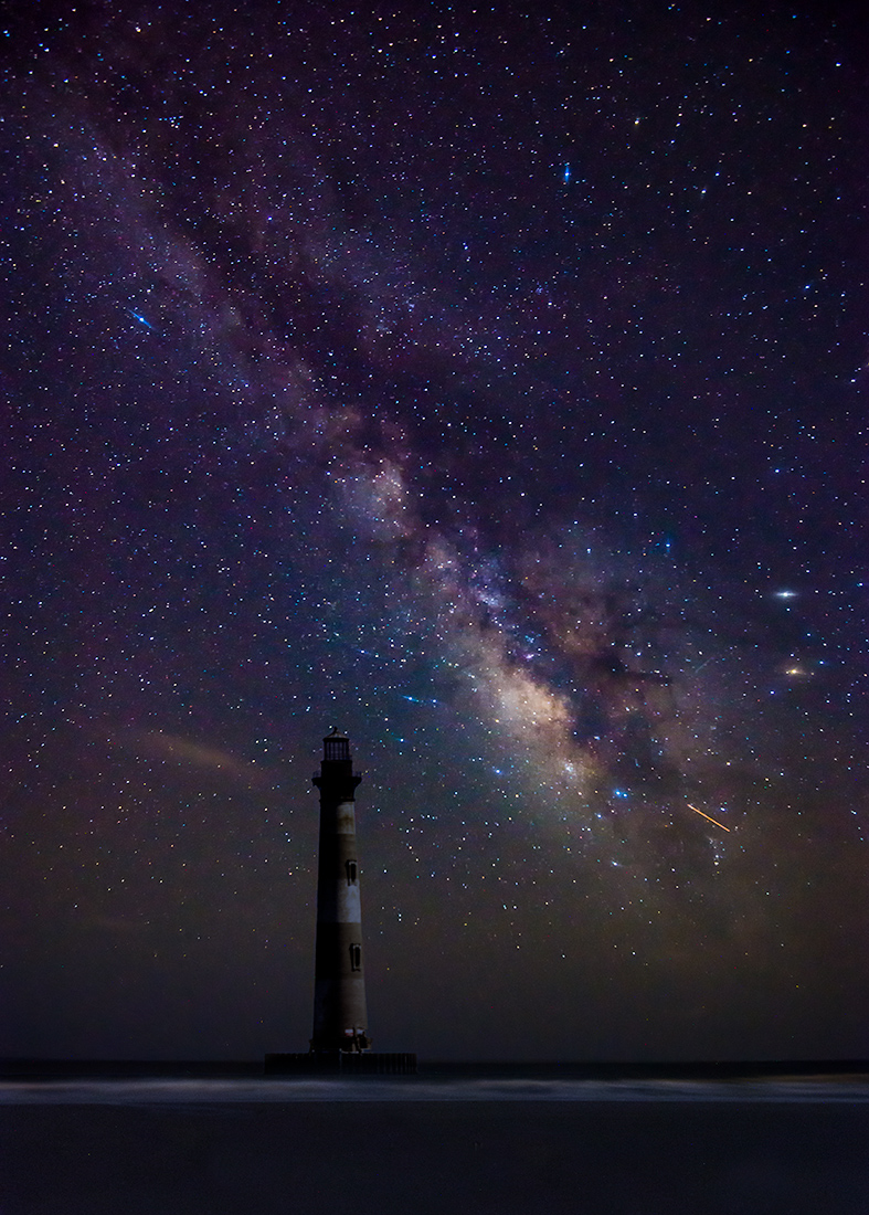 Morris Island Lighthouse under the Milky Way