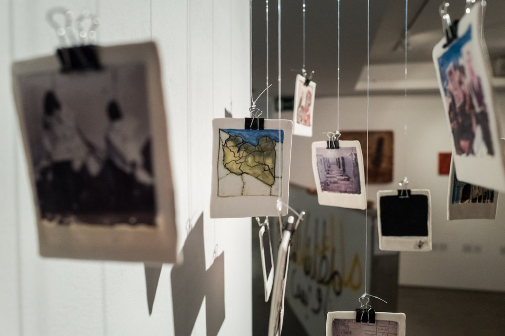 Ceramic polaroids by Marcella Mameli-Badi.