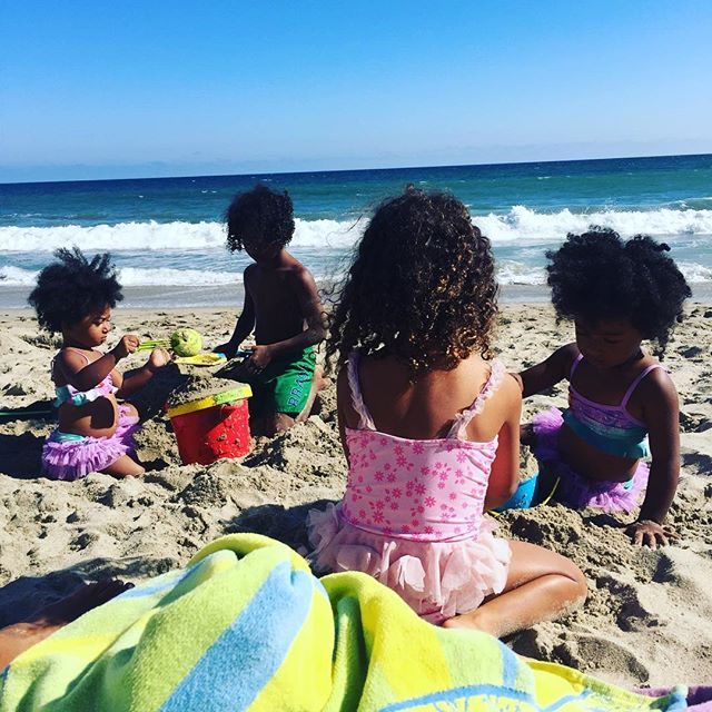 #Sundayfunday #malibu #beach #family #twins #4kids
