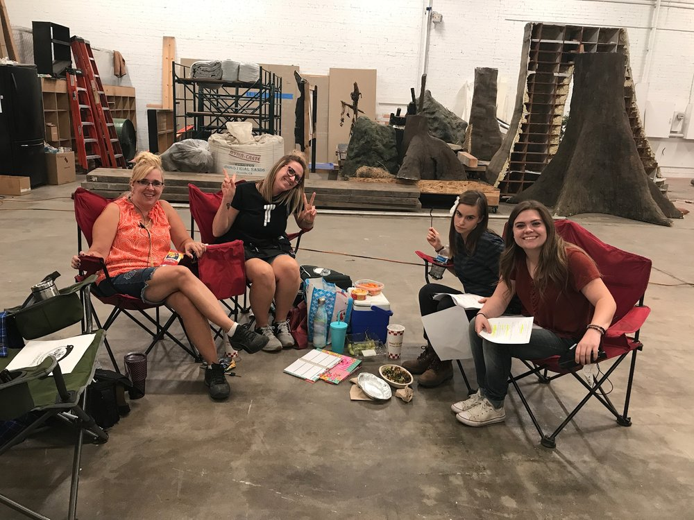 L-R: Trina Short, Jenny Pauline-Mendoza, Ema Horvath, Nicole Spate. It's probably about 2am here, but with this crew you can never tell. Photo Credit: ...I honestly have no idea.