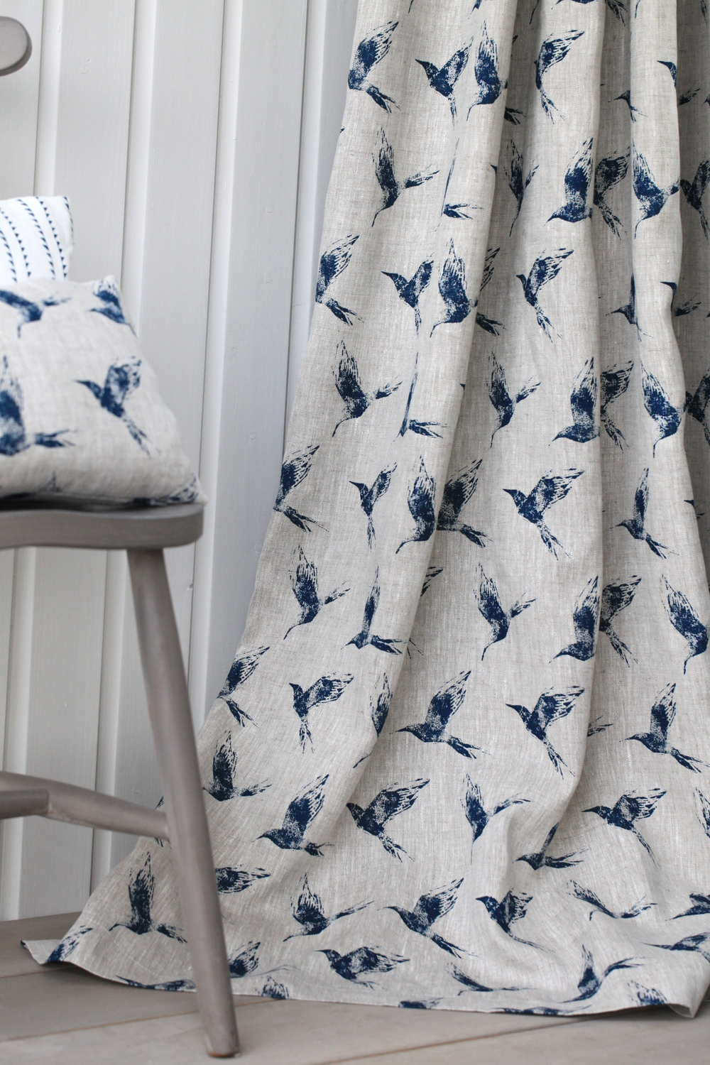 BOLLIN BIRD INKY SKY CURTAIN