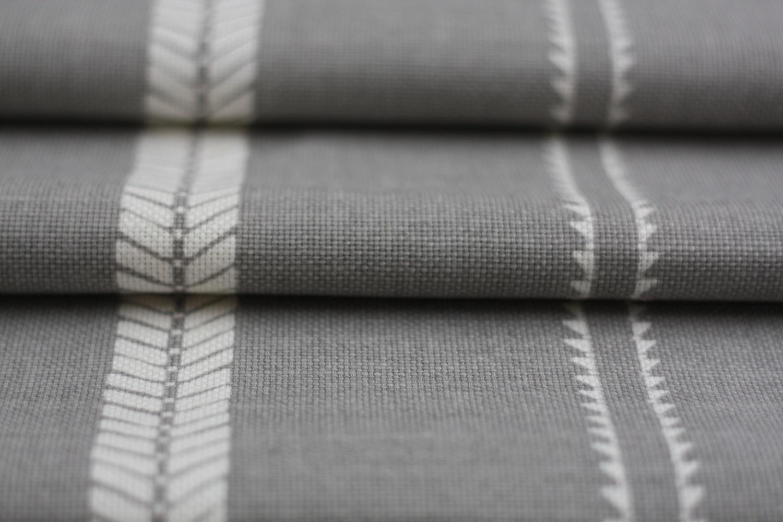 Slade Stripe Fabric Rock Grey