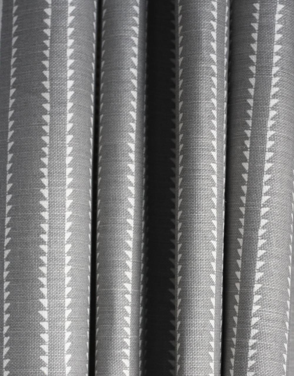 Grey Linen Curtain: Windmill Wood Rock Grey (linen blend)