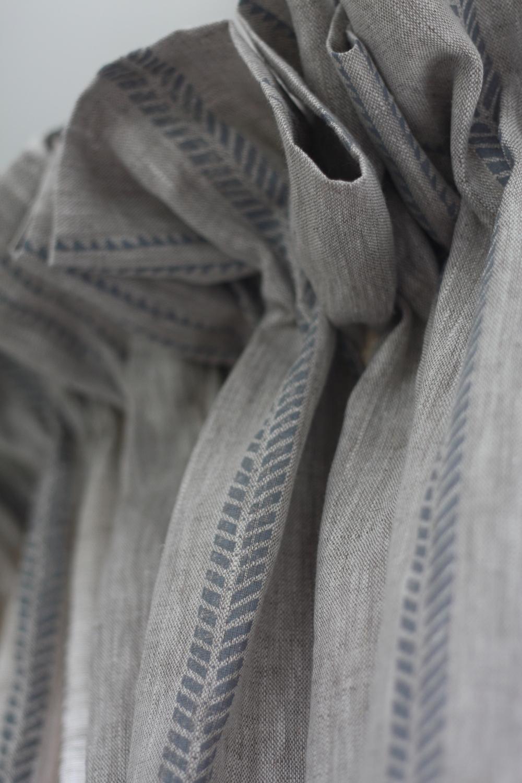 Ruffle header Linen Curtain