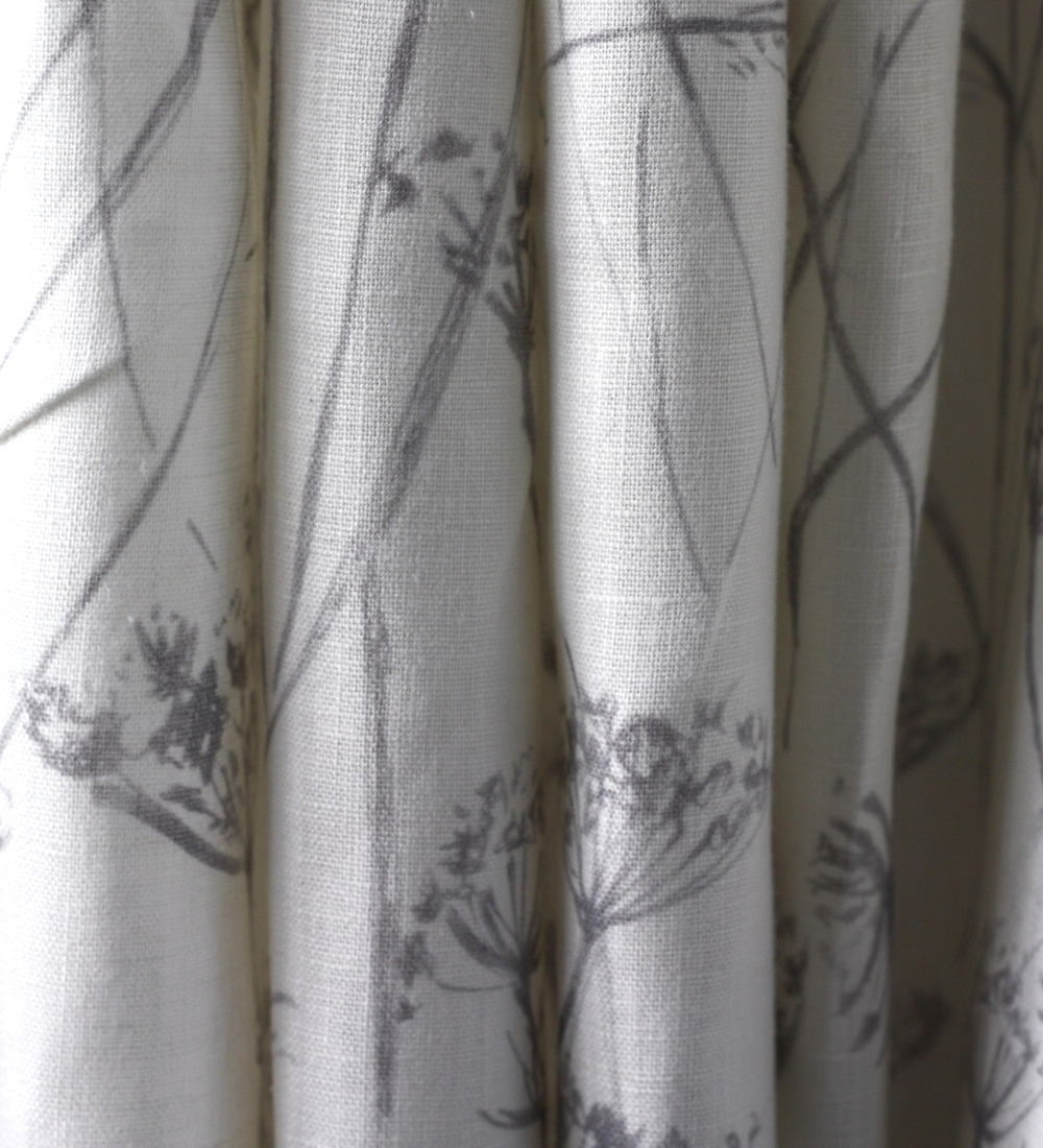 Pure Line Curtain in Putsborough Cowparsely Rock Grey