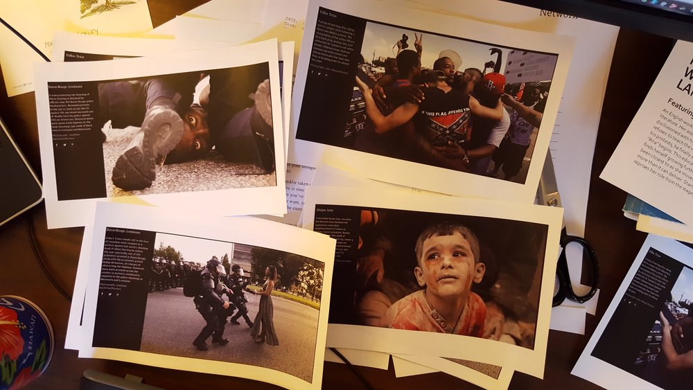 Figure 3: Examples of the news photos included in the envelopes. Photograph by author.