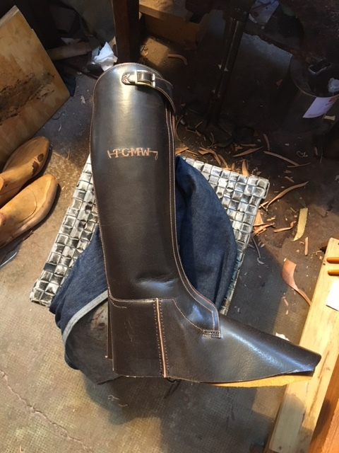 Cardovan leather polo boot in the works
