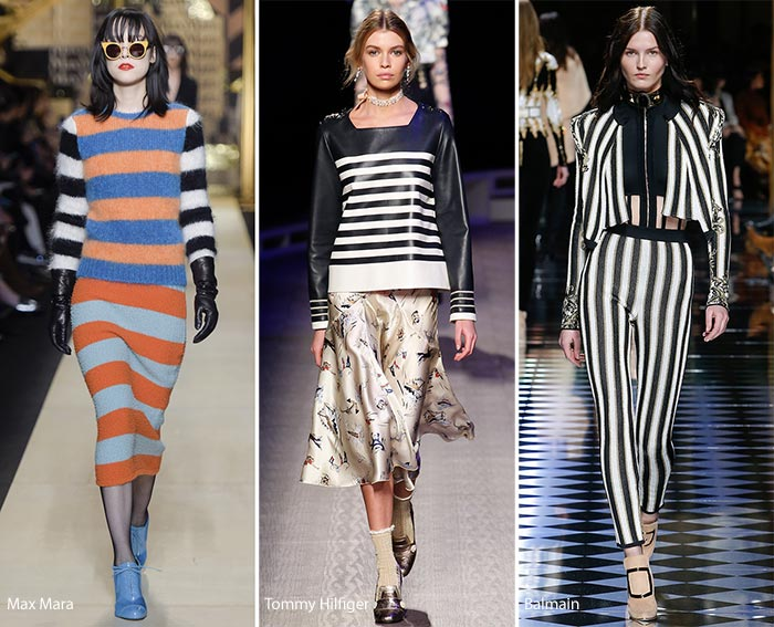 Autumn fashion trends stripes
