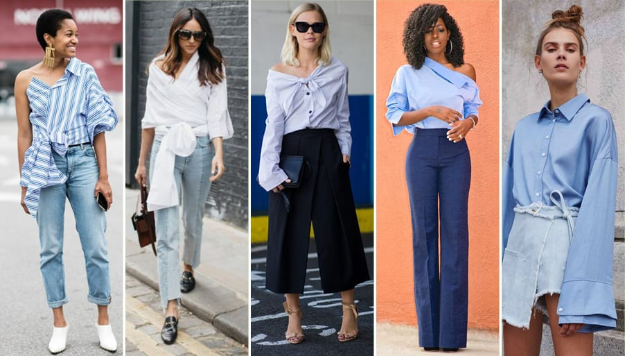 Deconstructed shirt fashion trend