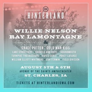 @hearandnowmedia's very own @drmean and @jesiidee will be in Iowa this weekend covering the @hinterlandiowa festival!  Check out the preview of this fabulous festival on the blog!  #concertpreview #hinterlandiowa #hearandnowmedia #willienelson #raylamontagne #gracepotter #lakestreetdive #coldwarkids #houndmouth #sanfermin
