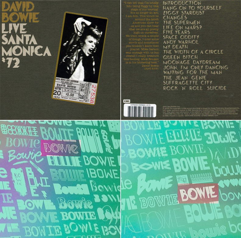 Bowie Live album inspired use of the type on a V&A Bowie commemorative poster.