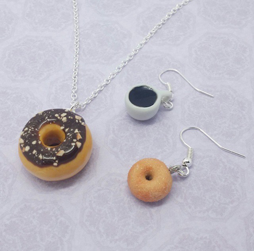 Donut jewelry-Bakery Charms