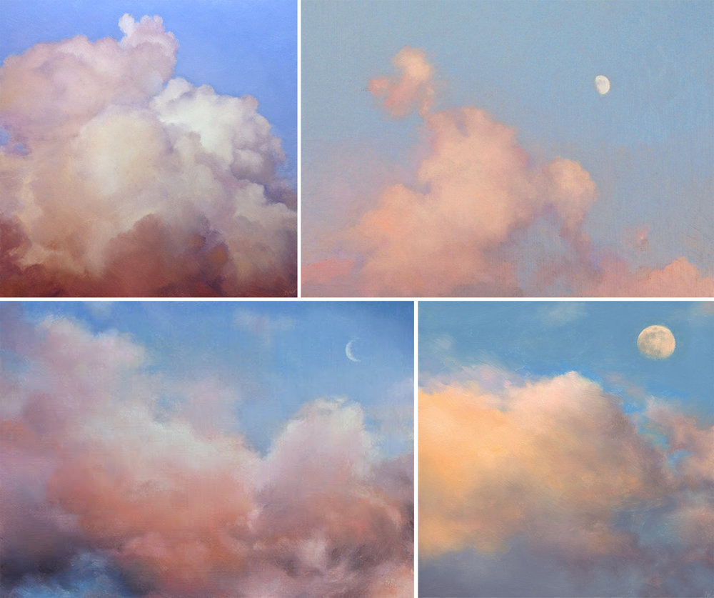 CLOUDS AT SUNSET / MOONRISE