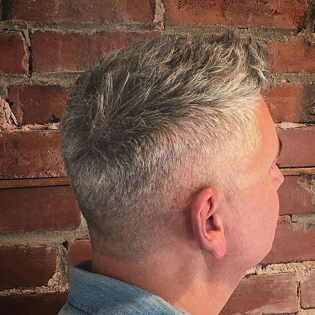 analysts predict silver is on the rise... styled with @grantsgoldenbrand matte dressing. #thedeliisopen now serving #coldcuts #smashedidolshair #stlhair #menshair #stlstylist