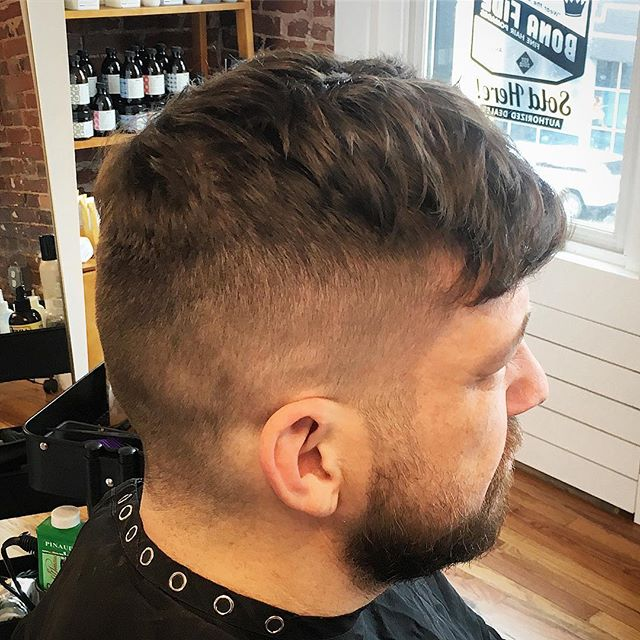 On tuesdays, we texture. Blow dried with @bonafidepomade Texture Spray. #thedeliisopen now serving #coldcuts #smashedidolshair #fade #menshair #stlstylist #modernsalon #behindthechair #americansalon