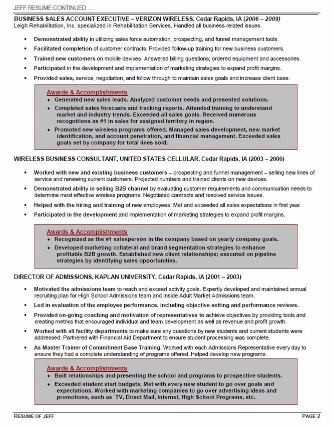 Executive Resume 3 — Century Resume