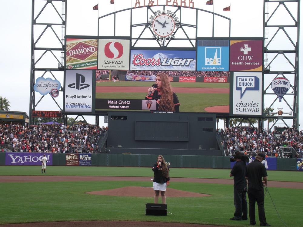National Anthem @ AT&T Park for SF Giants.JPG