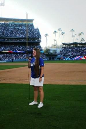 Malia sings for 56,000 fans at Yankees vs Dodgers game @ Dodger Stadium.JPG