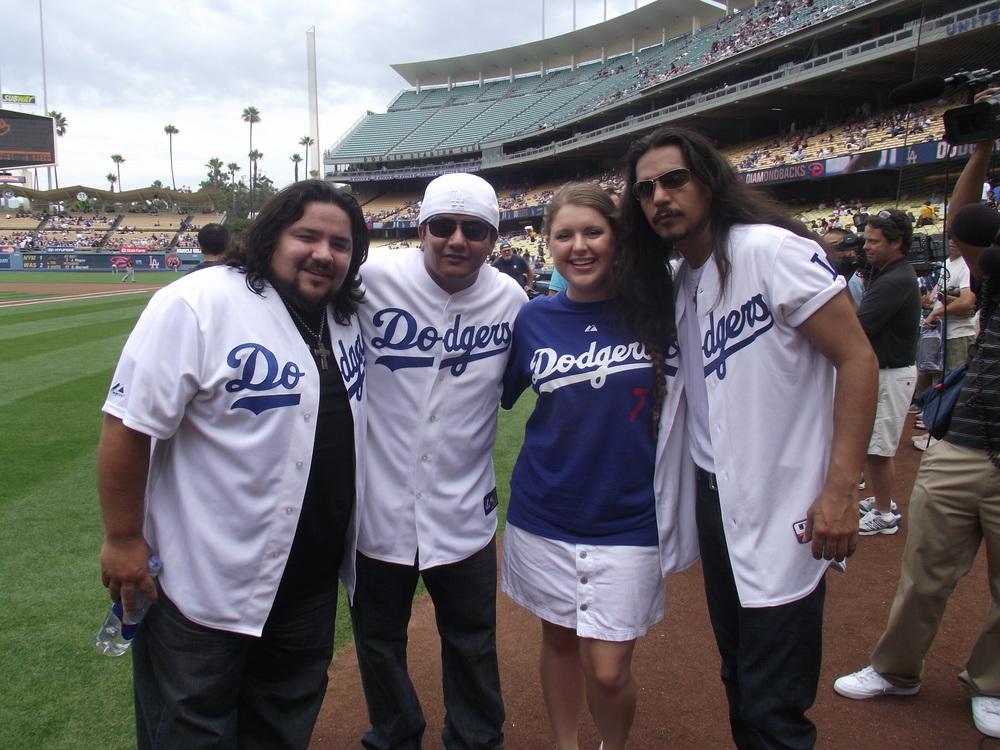 Malia & The Los Lonely Boys @ Dodger Stadium.JPG