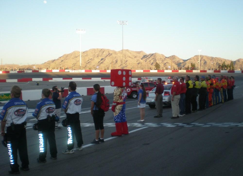Las Vegas Motor Speedway ~ National Anthem.JPG