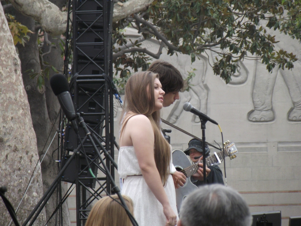 Malia & Daniel performing @ New Student Convocation.JPG