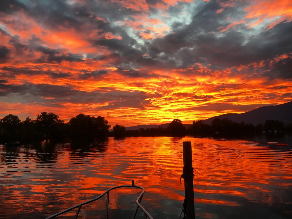 River Aare Sunset