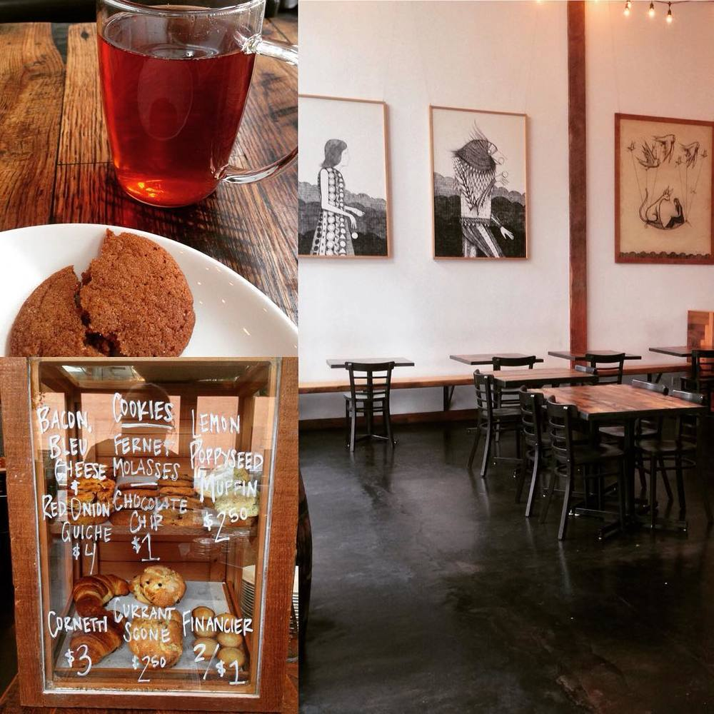 Perfect cafe service for a rainy morning @parlour_oakland Isn't this why we travel, for rich ambiance, down to earth people, fresh baked goods, fresh coffee & tea? #thisisoakland #19thstreetoakland #parlouroakland #bakedgoods #cafe #uptownoakland #supportlocal #interior #fernet  (at Parlour Oakland)
