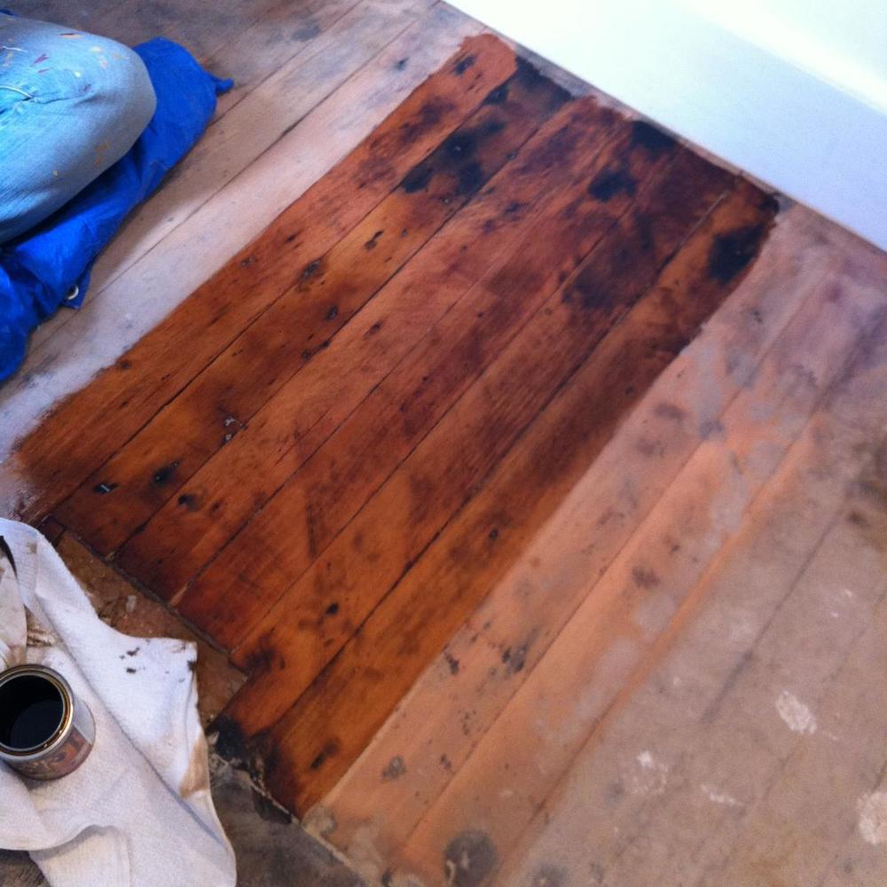 …and staining!