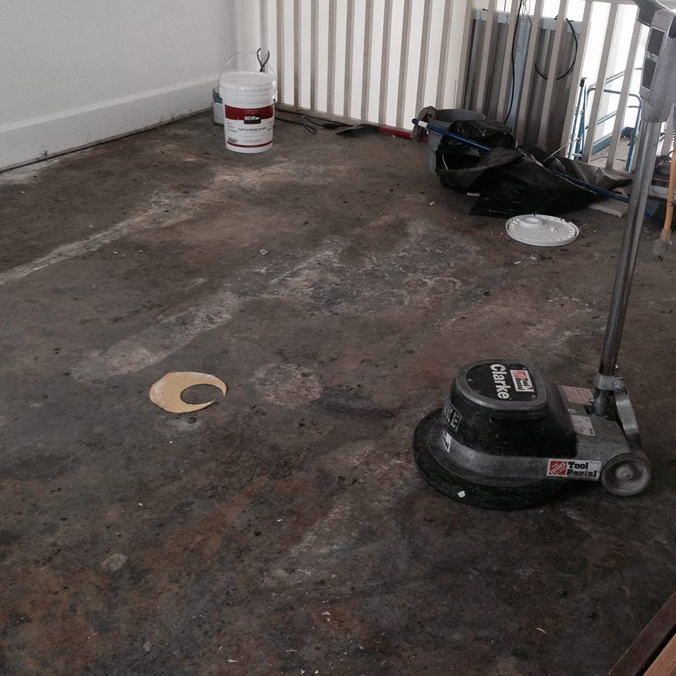 Grinding the concrete floors today…come on by and give it a whirl!