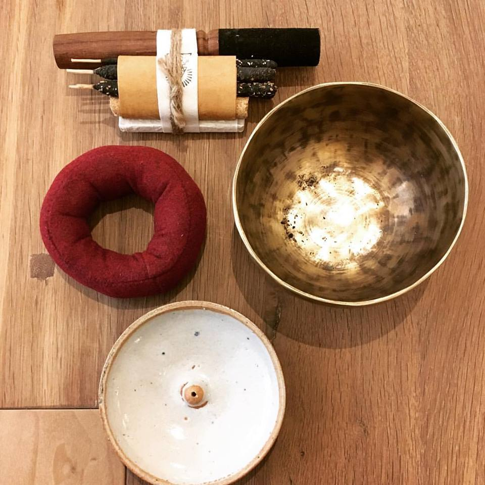 Equanimity is a gift of LOVE.  Share it with your loved ones, wish it for everyone.  Incausa  Meditation Set includes Singing Bowl + Stand, Incense + Clay Holder by  Jordan Colan .