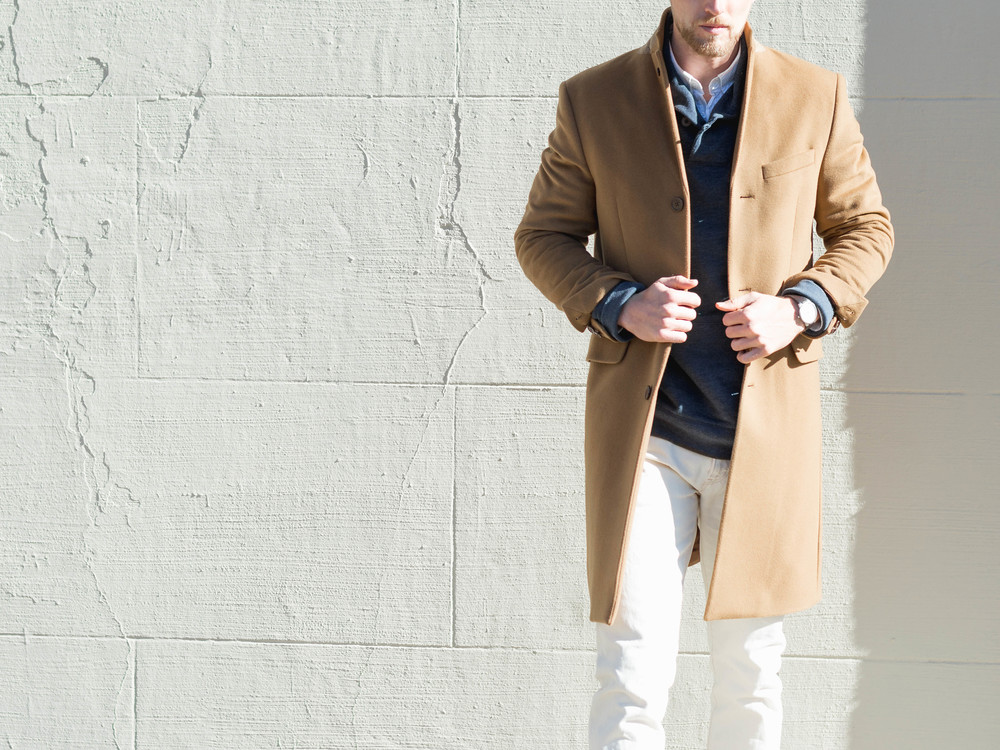 mens fashion camel coat the cuff