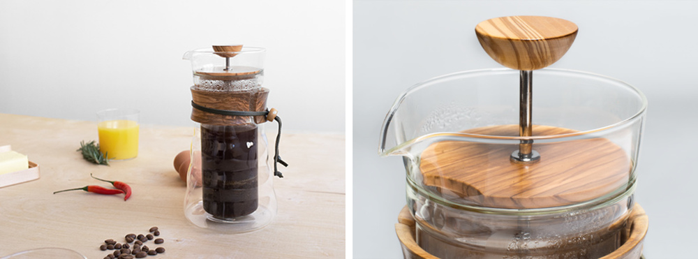 Olive Wood French Press | Hario | $109