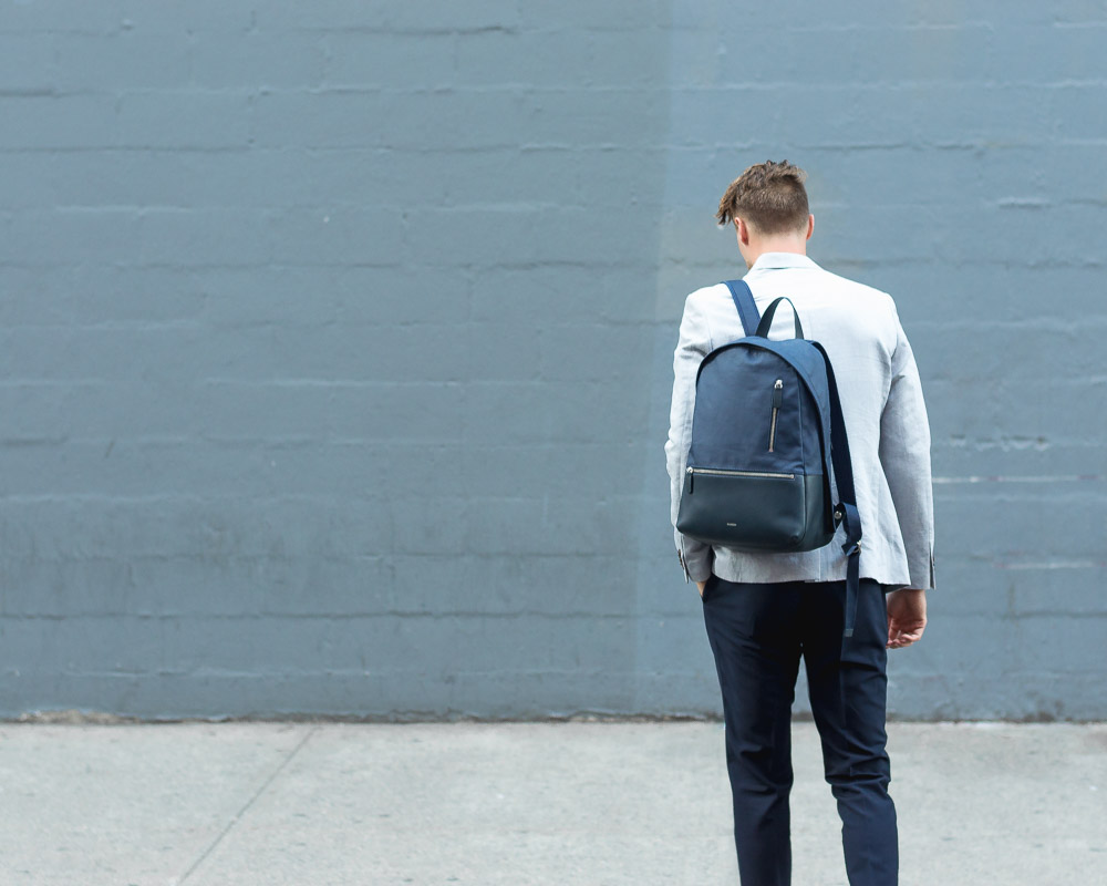 how to wear a backpack like a grown-up