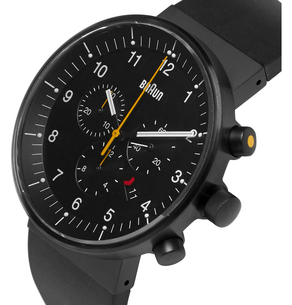 BRAUN BN0095 Rubber And Stainless Steel Watch - $800
