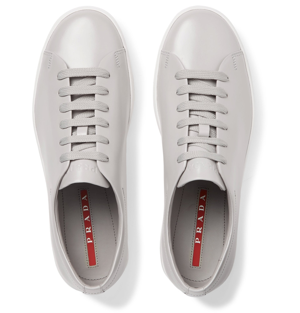 Prada Spazzolato Leather Sneakers - $620