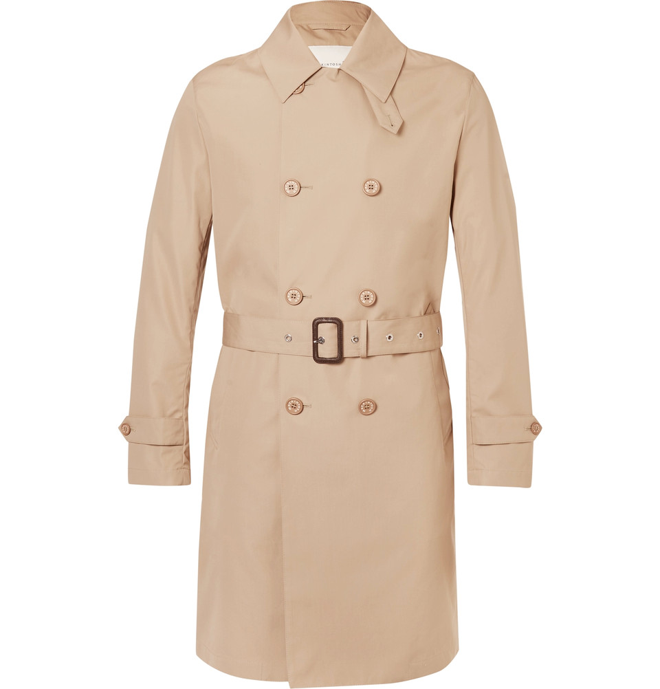 MACKINTOSH Slim-Fit Belted Bonded-Cotton Raincoat - $1,275
