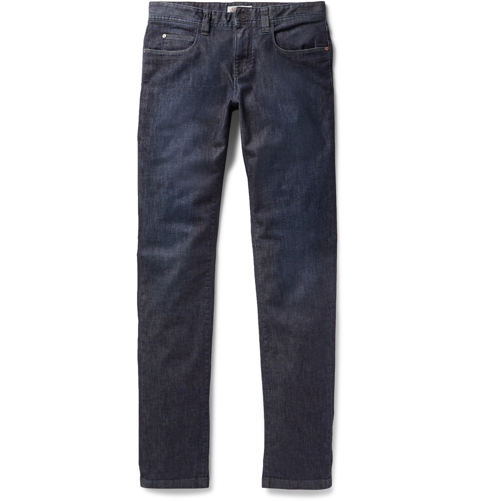 LORO PIANA Slim-Fit Stretch-Denim Jeans $575