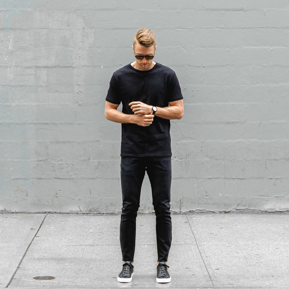 sharply jacob crew neck t-shirt black