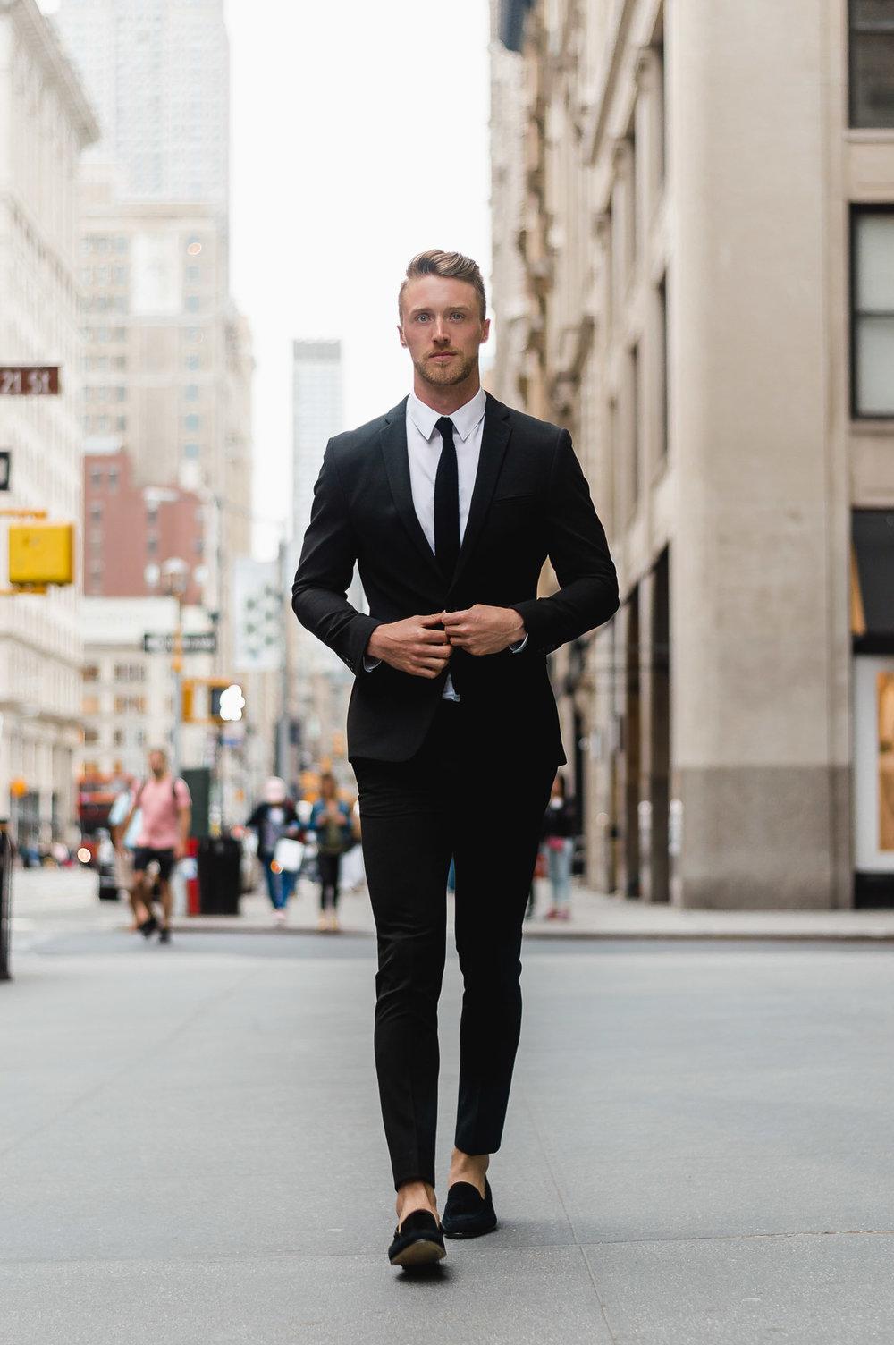 Black Suit, Black Tie | ASOS Man — THE CUFF