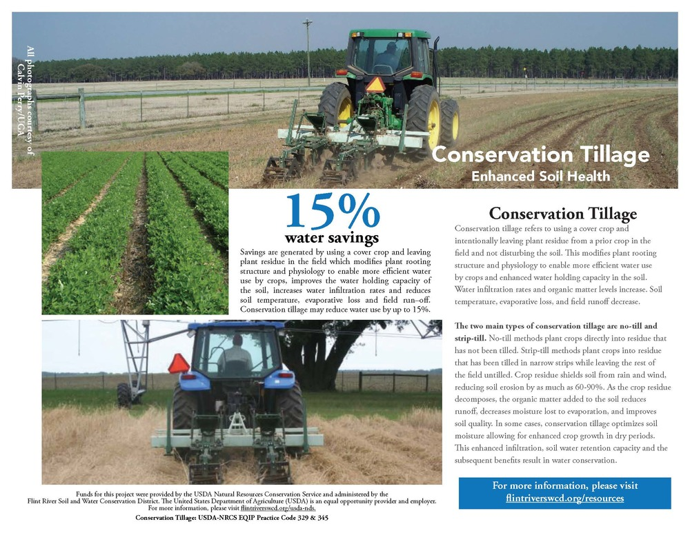 The technical guide above describes conservation tillage, including no-till and strip-till methods (click for a downloadable PDF version).