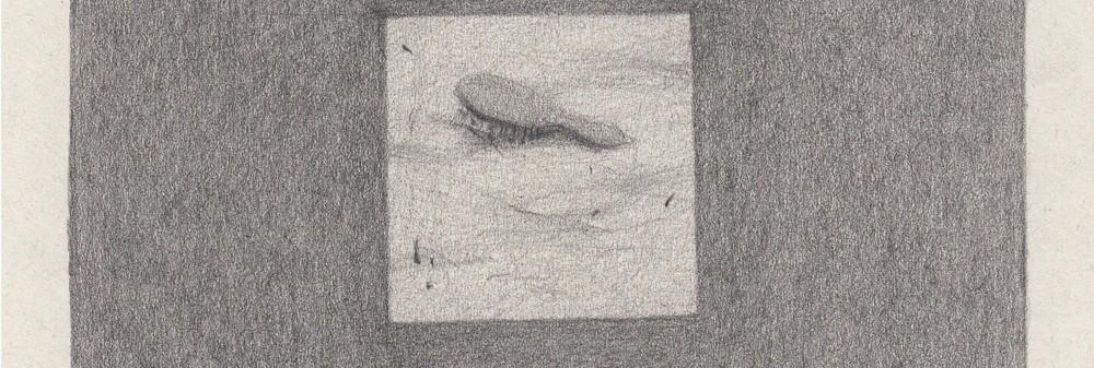 """Gabrielė Adomaitytė. zīmējumu cikls """"Contact 88"""". 2015. papīrs, zīmulis, 29 cm x 21 cm. VAA balva """"par jutīgām attiecībām ar realitāti"""""""