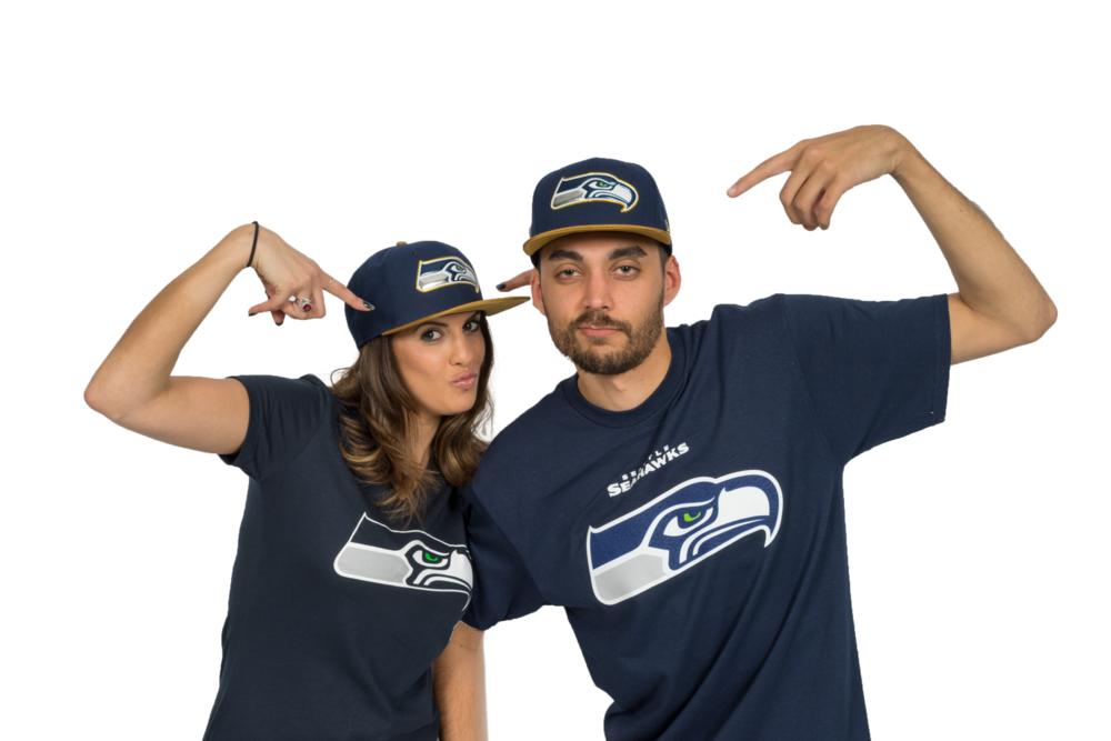 Seahawks Gold Snapback Hat