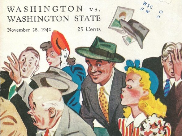 This is a program cover from the 1942 Washington-Washington State game, played at Husky Stadium. David Eskenazi Collection