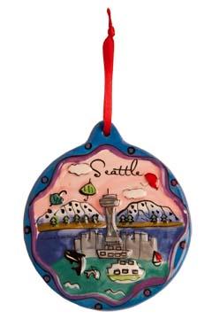 Souvenir Seattle Ornaments of Famous Seattle Sights: Simply Seattle
