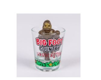 Bigfoot Country Shot Glass Seattle wa