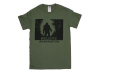 Mens Seattle Believe Sasquatch Tee Seattle WA