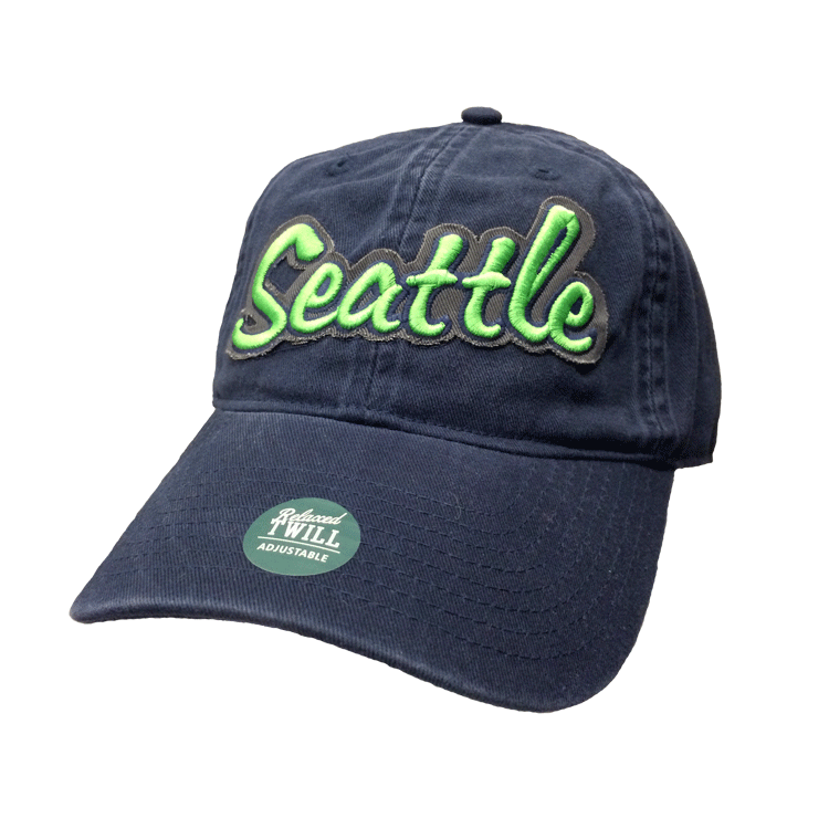 Dad's need some love to, and so do the Hawks, which is why we crafted the Seattle Legacy Navy and Green Dad Hat. What can we say? Sport classic Seattle colors while while also protecting that Dad-ly dome from the springtime rays.