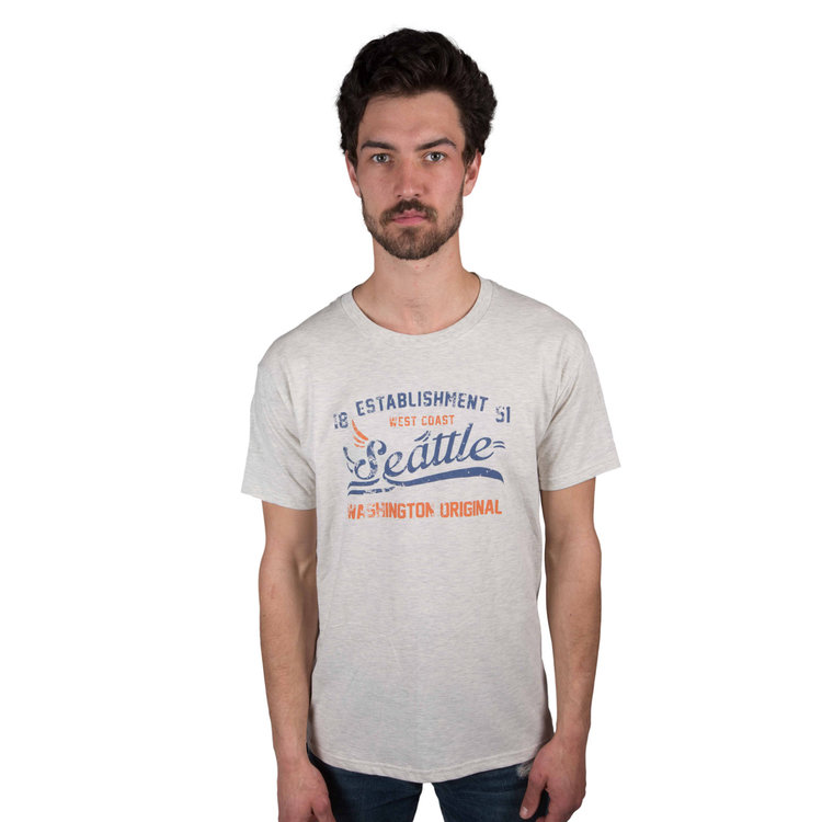 The Landscaper Seattle T-Shirt looks just as good regardless if you're hard at work or you're relaxing on your day off. A quintessential Seattle script logo adorns the front of this vintage-inspired Seattle T-shirt, complete with the year Seattle officially became a city.