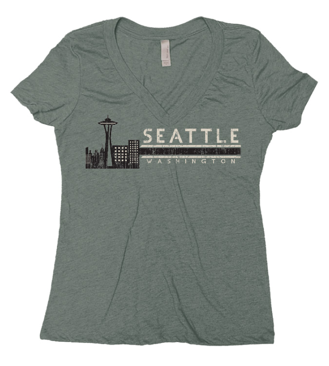 Soft to the touch and extremely comfortable, the Seattle Skyline Badge tee is another awesome to sport some Seattle Swag this spring! Just another one of our epic Seattle T-shirts to ring in Spring in Seattle.